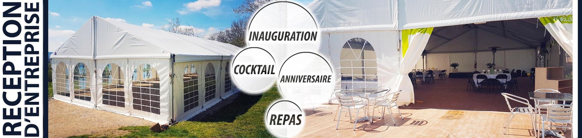 Réception d'entreprise : cocktail, buffet, anniversaire, inauguration, repas, afterwork, séminaire !