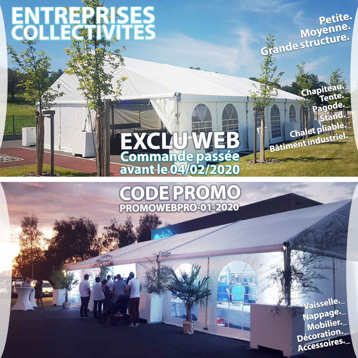 Promotion entreprises collectivités 01-2020 Chris-Events