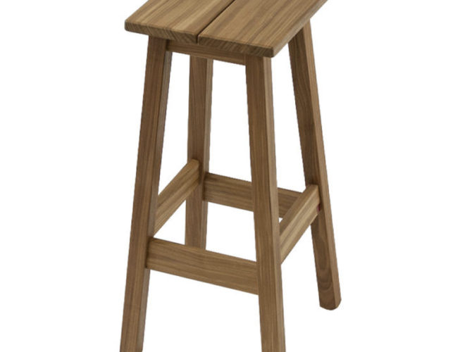 tabouret en bois marron Chris Events materiels location