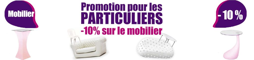 Particuliers : profitez de -10% sur le mobilier et la vaisselle !
