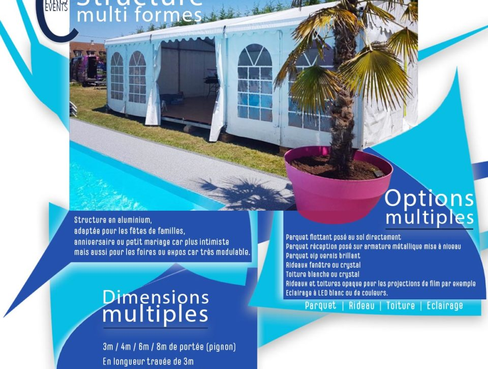 Chris Events location structure multiforme anniversaire, expo